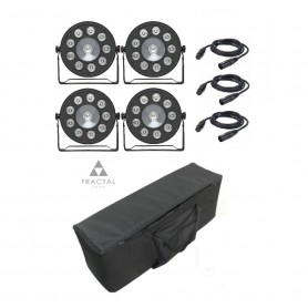 Fractal LED PAR 9x10W + 20W COVER SET 4