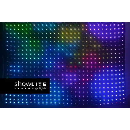 LEDVIDEO CURTAIN 3 x 2.5m RGB LED