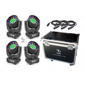 Flash LED MOVING HEAD ZOOM 19x15W RGBW SET (3 SETCIONS)