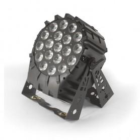 Flash [PL] LED PAR 64 19x10W 4in1 RGBW 4 Sections Short