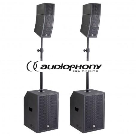Audiophony MOJO2200curve aktywny zestaw nagłośnienia