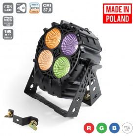 Flash [PL] LED PAR 64 4x30 W 4in1 COB RGBW 4 SECTIONS mk2