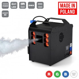Flash [PL] MACHINE FOG/ GEIZER 1500W + 6x10W RGBW 4in1 LED DMX REMOTE CONTROL