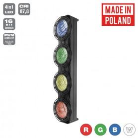 Flash [PL] JETO SUNAX1 4x30W 4in1 COB RGBW 4 SECTIONS mk2