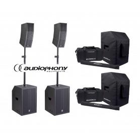 Audiophony MOJO 2200 CURVE COVER SET aktywny zestaw nagłośnienia