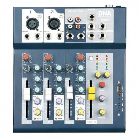 DNA MIX 4 analogowy mikser audio USB MP3 4 kanały